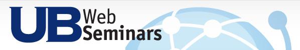 [image] UB Web Seminar Series